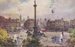 AM90 Trafalgar Square And Whitehall, London - Art Postcard - Trafalgar Square