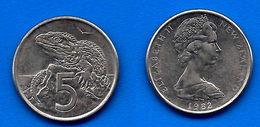 Nouvelle Zelande 5 Cents 1982 UNC Reine Elizabeth 2 New Zealand Cent Que Prix + Port - New Zealand