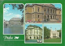 Praha (Cecoslovacchia) Views: Narodni Divadlo, Dum Umelcu, Ty-lovo Divadlo, Vinohradske Divadlo - Repubblica Ceca