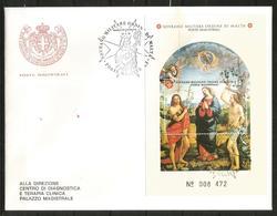 1991 SOVRANO ORDINE DI MALTA SMOM  Foglietto Fdc Viaggiata, Bellissima - Malte (Ordre De)