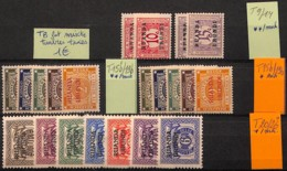 D - [825226]Ruanda-Urundi  - Tb Lot Mixte, Timbres Taxe, **/mnh, */mh - Collections