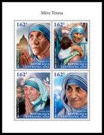 CENTRAL AFRICA 2018 **MNH SMALL Mother Teresa Mutter Teresa Mere Teresa M/S - OFFICIAL ISSUE - DH1845 - Mère Teresa