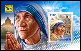 CENTRAL AFRICA 2018 **MNH Mother Teresa Mutter Teresa Mere Teresa S/S - IMPERFORATED - DH1845 - Mère Teresa