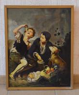 Peinture Tableau Huile Sur Toile Inspiré De Murillo, Par Verheggen (vers 1950) - Other Collections