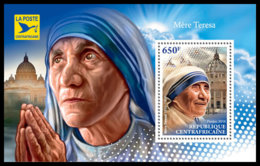CENTRAL AFRICA 2018 **MNH SMALL Mother Teresa Mutter Teresa Mere Teresa S/S - IMPERFORATED - DH1845 - Mother Teresa