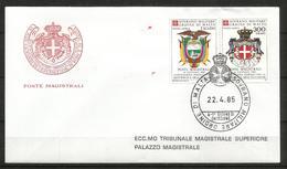 1985 SOVRANO ORDINE DI MALTA SMOM Ecuador PA  Fdc Viaggiata, Bellissima - Malte (Ordre De)