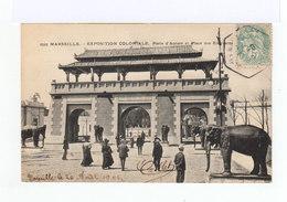 Carte Postale Marseille Vignette Exposition Coloniale. CAD Hexagonal Exposition Coloniale 1906. (867) - Marcophilie (Lettres)