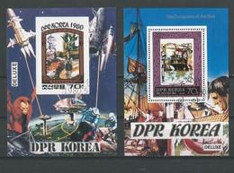 Corée Du Nord: 2 BF De Luxe Oblit (1 ND) - Corée Du Nord