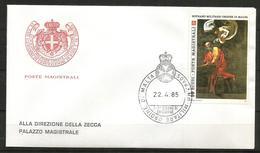1985 SOVRANO ORDINE DI MALTA SMOM   Fdc Viaggiata, Bellissima - Malte (Ordre De)