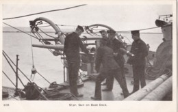AN70 Royal Navy Postcard - 12-pr. Gun On Boat Deck - Warships