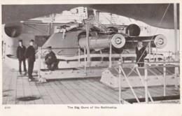 AN70 Royal Navy Postcard - The Big Guns Of The Battleship - Warships