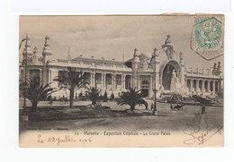Carte Postale Marseille Vignette Exposition Coloniale. CAD Hexagonal Exposition Coloniale 1906. (868) - Marcophilie (Lettres)