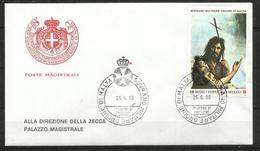 1986 SOVRANO ORDINE DI MALTA SMOM   Fdc Viaggiata, Bellissima - Malte (Ordre De)