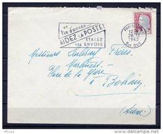 Lil3U17 Paris XVIII Secap =o En Fin D'année Aidez La Poste .../ Lettre 26/12/1962 - Marcophilie (Lettres)