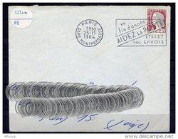 Lil3U14 Paris Gare Montparnasse Secap O= En Fin D'année Aidez La Poste .../ Lettre 25/11/1964 - Marcophilie (Lettres)