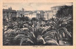 Cartolina Albenga Giardini 1955 - Savona