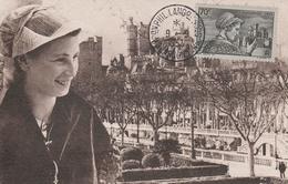 448 CM LANGUEDOCIENNE - EXPO. PHILATÉLIQUE NARBONNE 9.5.53 - Poststempel (Briefe)