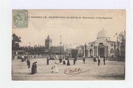 Carte Postale Marseille Vignette Exposition Coloniale. CAD Hexagonal Exposition Coloniale 1906. (869) - Marcophilie (Lettres)