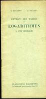 Tables De Logarithmes (extrait) - Livres, BD, Revues