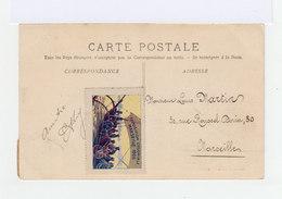 Carte Postale Marseille Vignette Exposition Coloniale. CAD Hexagonal Exposition Coloniale 1906. (871) - Marcophilie (Lettres)