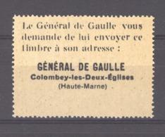 Vi 016  -  Pour Le Salut Public   Général De Gaulle  ** - De Gaulle (General)