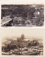611/ 2 Fotokaarten Melbourne, Princes Bridge And St Kilda Road, Exhibition Victoria - Zonder Classificatie