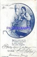 103547 RUSSIA ART COSTUMES WOMAN CIRCULATED TO RIGA POSTAL POSTCARD - Rusland