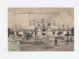 Carte Postale Marseille Vignette Exposition Coloniale. CAD Hexagonal Exposition Coloniale 1906. (873) - Marcophilie (Lettres)