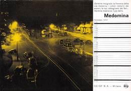 "08840 ""MILANO - GEIGY S.A.- MEDOMINA - IL FARMACO PER DORMIRE - CALENDARIO NOVEMBRE 1952"" CARTA ASSORBENTE ORIG. - Food"