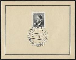 1943 - BOHEMIA & MORAVIA - Card + Michel 89 [Adolf Hitler] + OLMÜTZ - Bohême & Moravie
