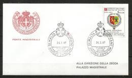 1987 SOVRANO ORDINE DI MALTA SMOM  Senegal PA Fdc Viaggiata, Bellissima - Malte (Ordre De)