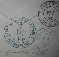 1895 Compagnie Des Filles De La Charité Saint Vincent De Paul 140 Rue Du Bac à Paris Cachet Au Revers D'une  Lettre - Marcophilie (Lettres)