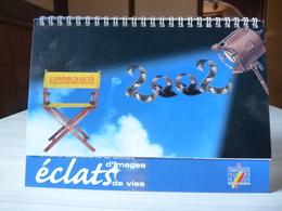 Calendrier à Poser - 2002 - Cinéma De Wallonie- Bruxelles - éclats D'images De Vies- Communauté Française De Belgique - Calendriers