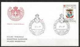 1987 SOVRANO ORDINE DI MALTA SMOM  Panama PA Fdc Viaggiata, Bellissima - Malte (Ordre De)