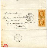 France Paris 2 N° 28 Type 2 Obl Etoile Et T17 Du 23 Juil 1871 - 1849-1876: Klassik
