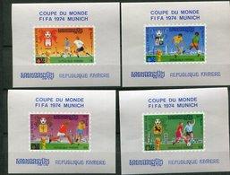 Rep Khmère ** 4 Blocs  -  Dent Figurés - Coupe Du Monde FIFA 1974 Munich - Kampuchea