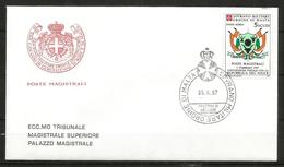 1987 SOVRANO ORDINE DI MALTA SMOM  NIGER PA Fdc Viaggiata, Bellissima - Malte (Ordre De)