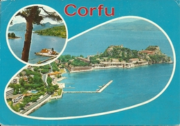 Corfou (Corfu, Grecia) Aerial View, Vue Aerienne, Panorama Aereo - Grecia