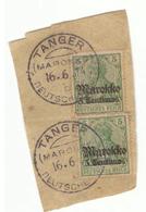 6 Sellos Con Hermosas Cancelaciones De Tanger. Marruecos Español Y  Alemán. Protectorado - Maroc Espagnol