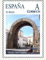 """Spain 2007– España """"Tu Sello"""". Sello Personalizado Del """"Arco Trajano"""" De Mérida - Arqueología"""