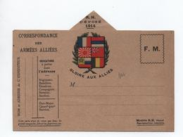 """RARE CARTE DE FRANCHISE MILITAIRE """"GLOIRE AUX ARMEES"""" - Cartes De Franchise Militaire"""
