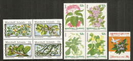 Fleurs & Plantes Indigènes Des îles Marshall (Océan Pacifique).  9 Timbres Neufs ** Côte 15 Euro - Plants