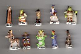 RARE Série Complète 10 Fèves Brillantes + 1 Fève Hors Série Collector SHREK 3 - PRIME 2007 - Cartoons