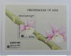 Bhutan** Bl. 251. Orchidaceae Of Asia. MNH [3;72] - Orchids