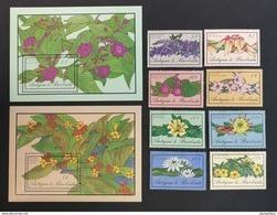 Antigua Barbuda 1986** Mi.958-65 + Bl.113, 114. Flowers [1;82] - Plants