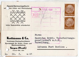 Advertisement Siegen 1941 - Briefe U. Dokumente