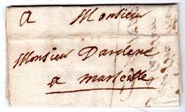 Lettre Envoyée Des MEES Ou MANE 1723 à Marseille - Marcofilie (Brieven)