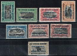 Ruanda-Urundi - 1916 - Y&T N° 28** à 35**, Sauf N° 33 Oblitéré - Ruanda-Urundi