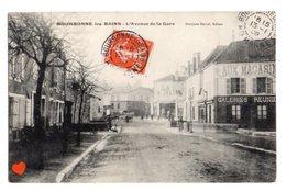 00633-LE-52-BOURBONNE-les-BAINS-L'Avenue De La Gare-----------animée-commerce - Bourbonne Les Bains