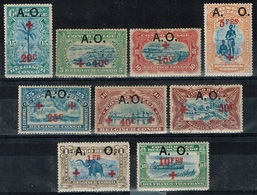 Ruanda-Urundi - 1918 - Y&T N° 36** à 44** - 1916-22: Neufs